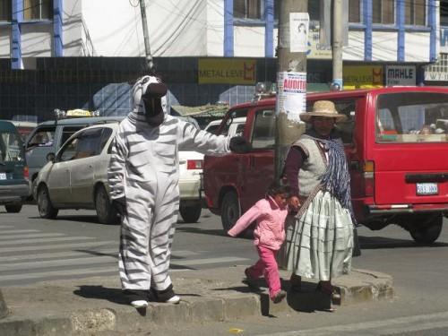Who doesn´t like a Bolivian Zebra helping you cross the street.